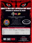 Poster for AMVETS Military Night